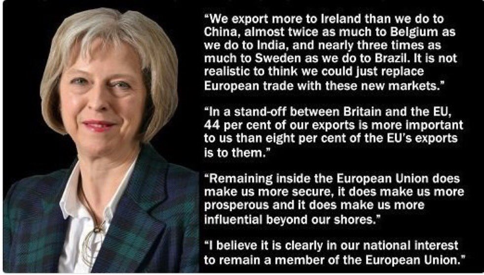 What #TheresaMay said 9 months ago. I rest HER case. #brexit #eu https://t.co/wQlzmw07e7