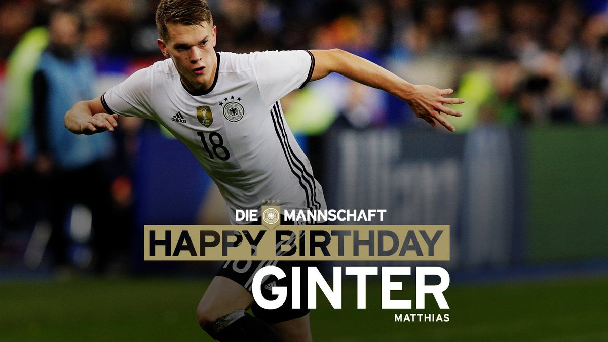 All the best for your 23rd birthday, @MatzeGinter! #DieMannschaft @BVB...