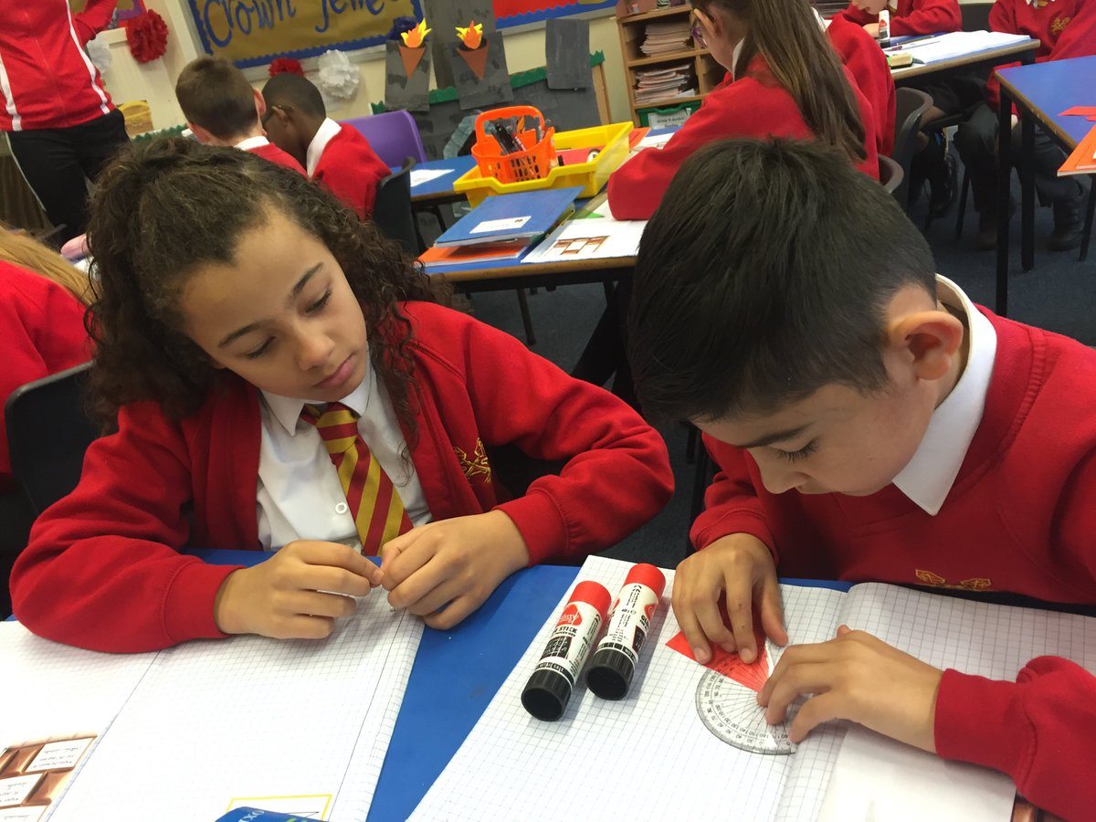 Year Five coached each other through how to use a protractor today for the very first time.