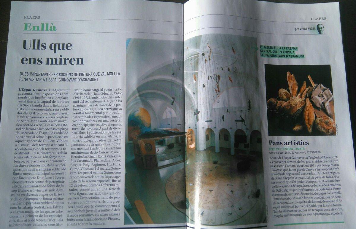 Recuperem aquest article de @segrecom_lleida que parla de les dues exposicions actuals de l&#39; #EspaiGuinovart d&#39;#Agramunt: <br>http://pic.twitter.com/fc90KhPbJc