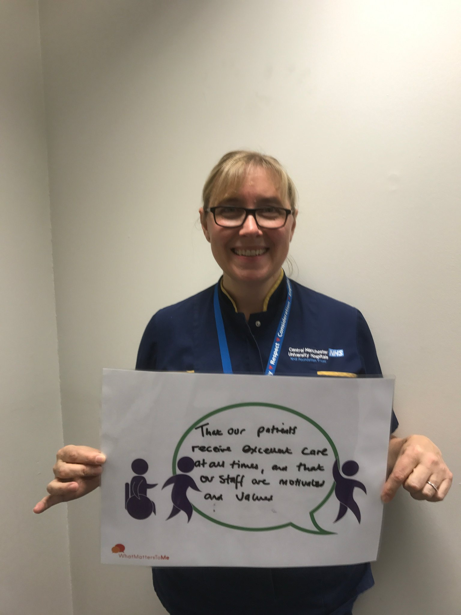 HON Anne Woodward #wmtm pledge ❤️that our pts receive excellent care at all times @CMFTNHS @stodges @DArmstrong70 @SueWardDN @cmftchiefnurse https://t.co/kW2SUw6Qom
