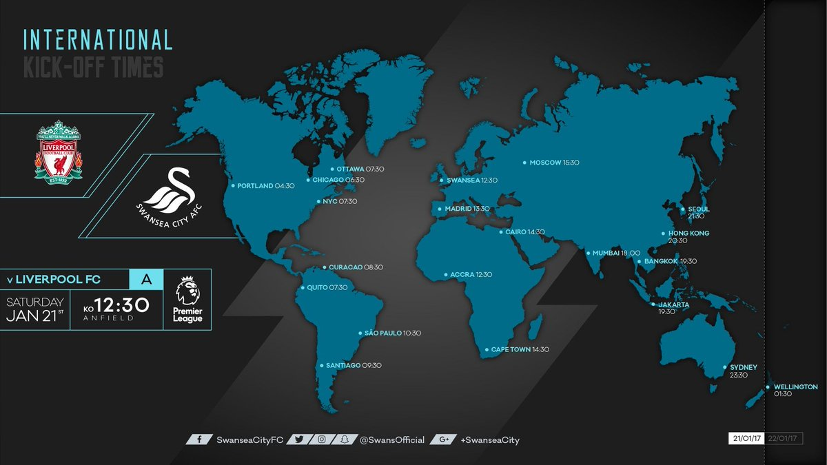 🌏 Here's what time we will kick off near you.  Where will you be cheer...