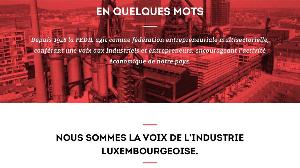 Nouvelle identité, nouveau site #web pour @Fedil_Lux ! Check it out  http://www. fedil.lu  &nbsp;  <br>http://pic.twitter.com/K0dO8bKlFW