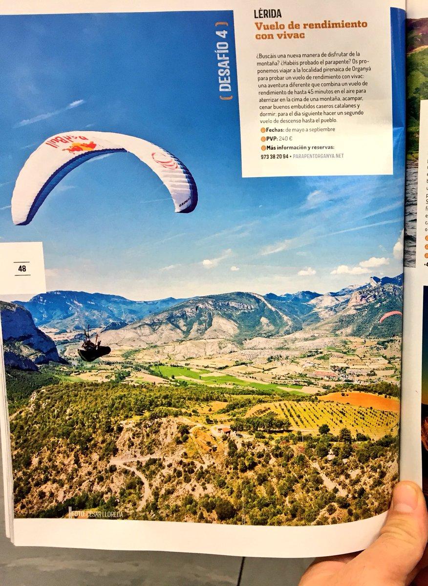 Vuelo en #parapente y noche de #vivac con @parapentorganya experiencia de #viaje de #aventura seleccionada por @oxigenados #FITUR2017<br>http://pic.twitter.com/TUbs0hq5He