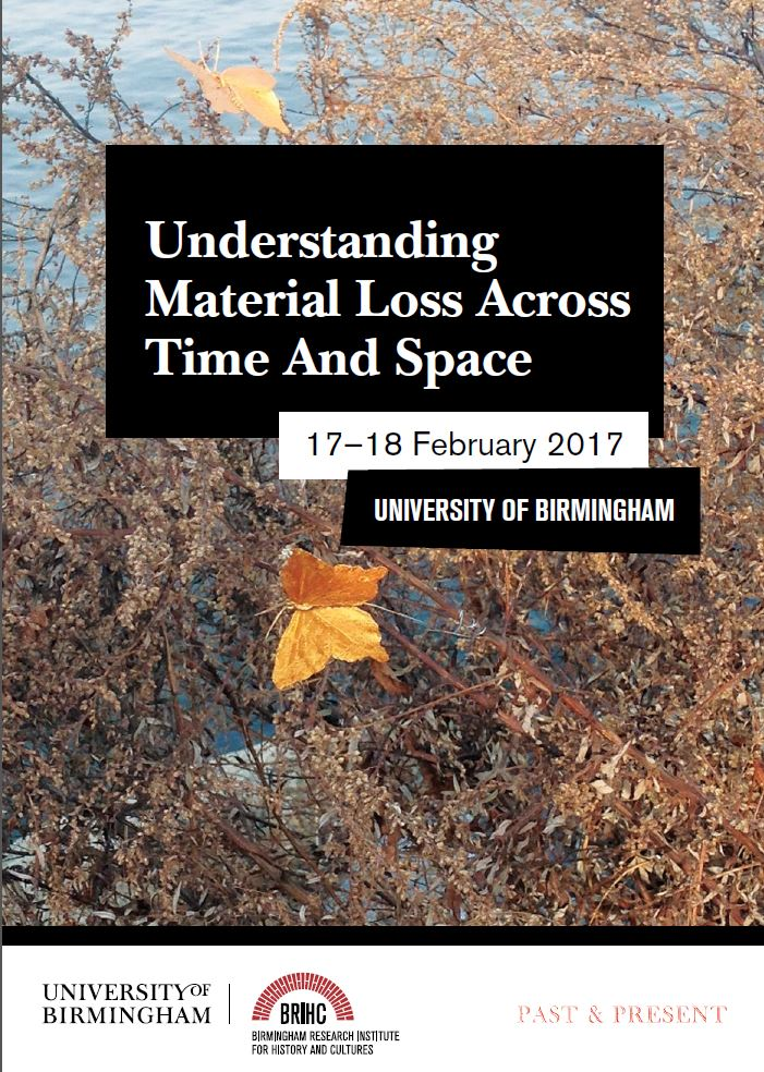 How are cultures & histories shaped by #MaterialLoss? All levels & disciplines welcome, Register now! https://t.co/VXbsJS9NpW @artsatbham https://t.co/UzUrpiQcyd