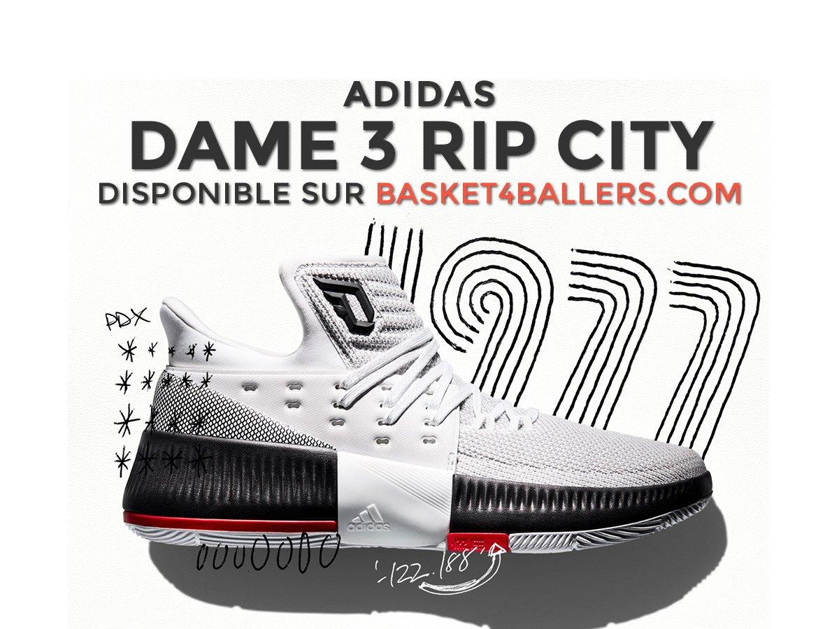 [RELEASE] La #adidas Dame 3 &quot; #RipCity &quot; sera disponible ce soir à minuit sur Basket4Ballers --&gt;  https:// goo.gl/ijuKht  &nbsp;   ! #Sneakers <br>http://pic.twitter.com/4Mnb5eJecu