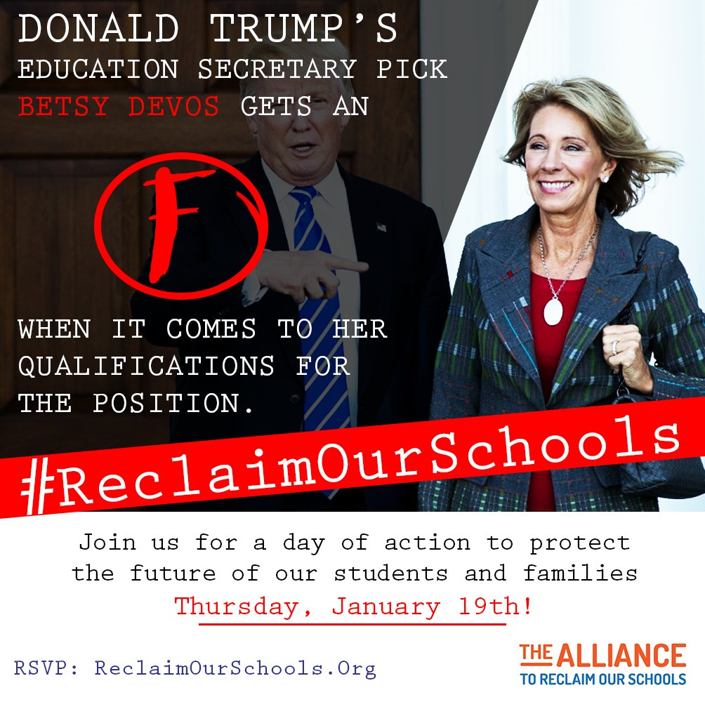 Today is a national day of action to #ReclaimOurSchools! Across the country parents, students, educators and community are taking action! https://t.co/2XNjeTwyay