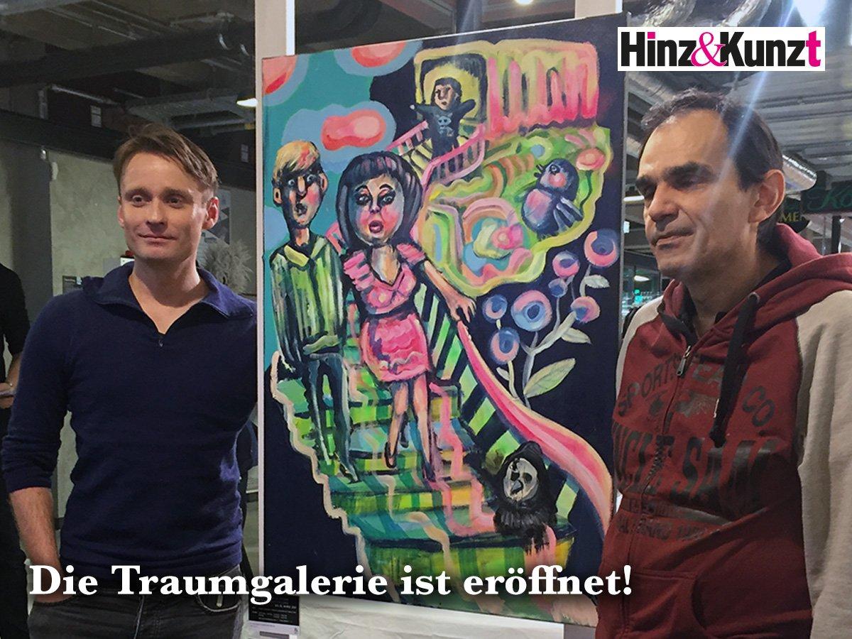 Die #Traumgalerie in der @StPauliHalle ist eröffnet. Hamburger Künstler haben Träume von Hinz&Künztlern verewigt: https://t.co/pymaJdjuT6