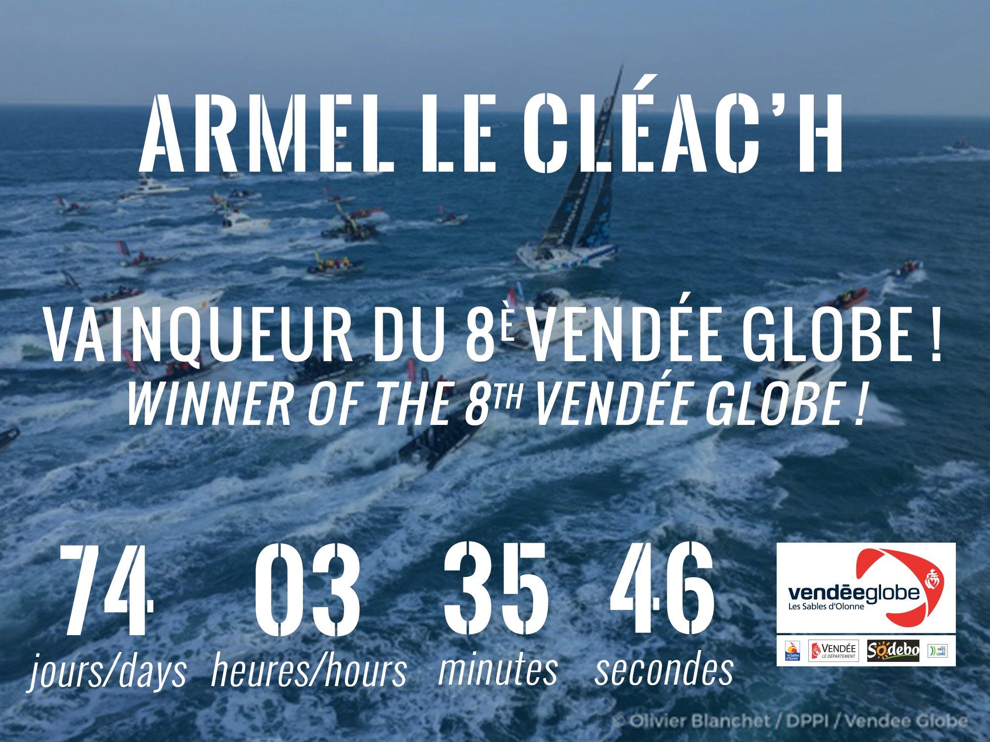 Tweet victoire Armel Le Cleach
