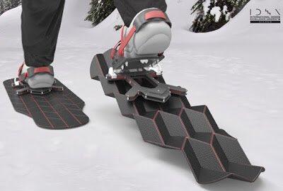 flux snow shoesっていうカンジキらしいけど、ミウラ折りの意外な使い方に驚いた