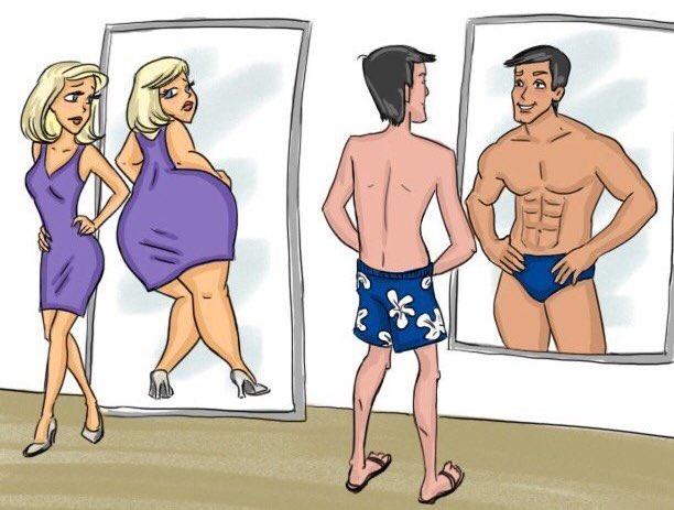 #autoestima del hombre vs. autoestima de la mujer  <br>http://pic.twitter.com/bTj9W1hpcV