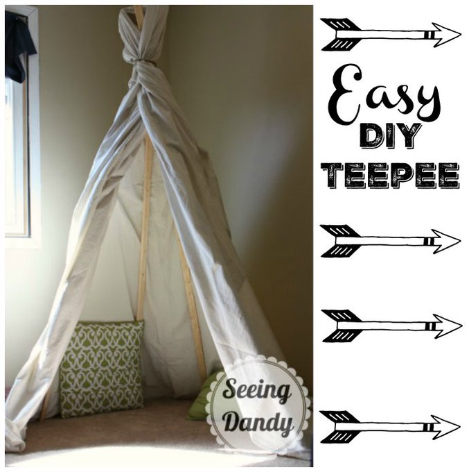 How To Make An Easy DIY Teepee