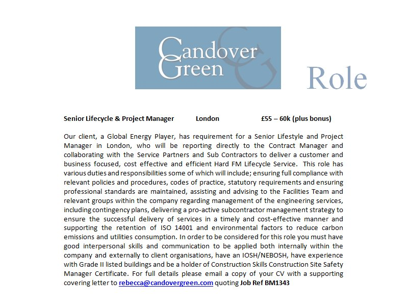 #Senior #Lifecycle &amp; #Project #Manager - #London - £Excellent - #Energy, #Oil &amp; #Gas - Ref: BM1343<br>http://pic.twitter.com/uWFWLUtZM3