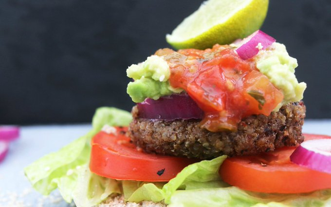 Quinoa and Black Bean Burgers [Vegan, Gluten-Free]