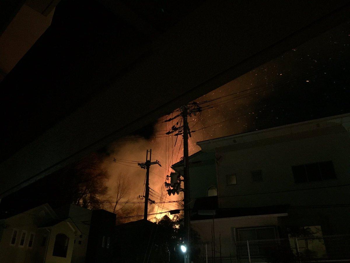 近場で火事なう。 https://t.co/pTr46Seoki