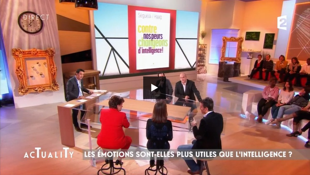 Retrouvez mon interview sur le quotient émotionnel dans @Actuality en replay sur @France2tv  http:// pluzz.francetv.fr/videos/actuali ty_,151899113.html &nbsp; …   #QE #peur #intelligence <br>http://pic.twitter.com/A56qGEIfhf