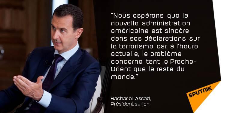 Coalition antiterroriste: #Assad espère que #Trump est sincère  http:// sptnkne.ws/dspk  &nbsp;   #Syrie #EtatsUnis<br>http://pic.twitter.com/9boyu0k9DL
