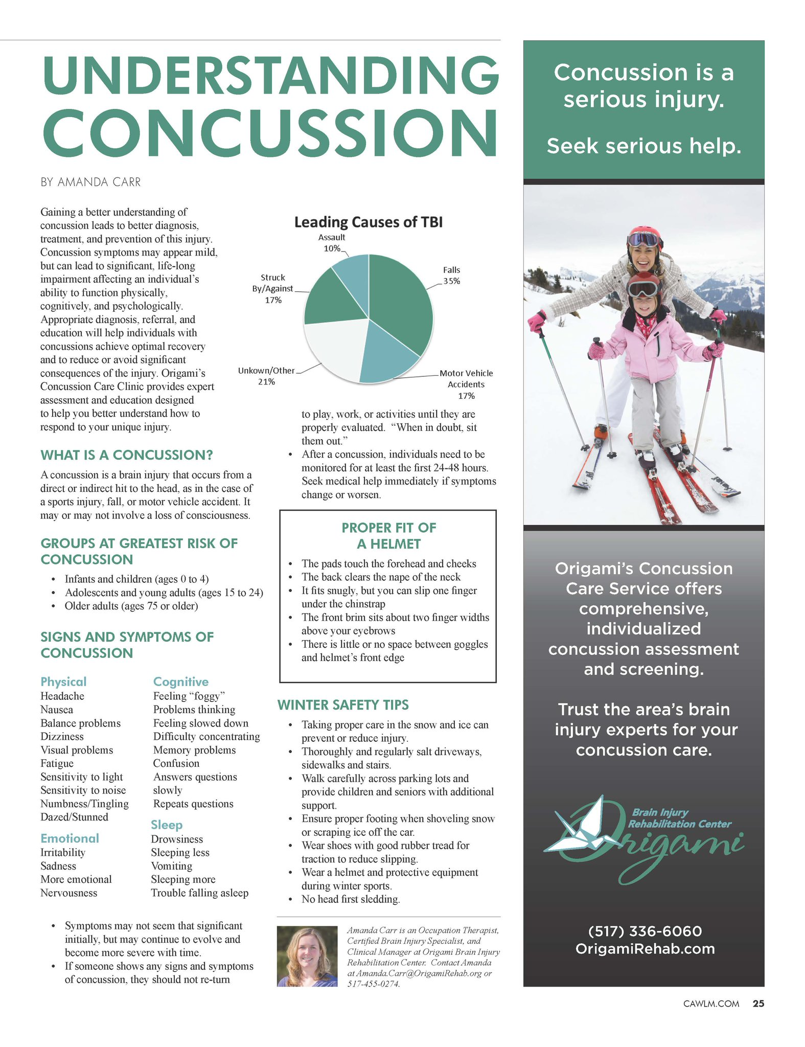 Origami Rehab On Twitter Concussion Info And Winter Safety Tips