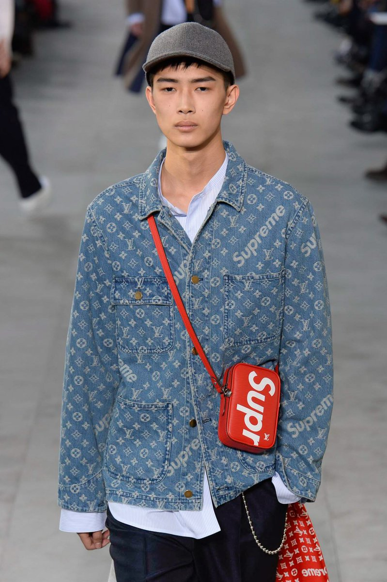 cbf1c53d477 LouisVuitton s Fall 2017 menswear collection is here—and it includes a  Supreme collaboration! http   vogue.cm BOdKoGO   PFWpic.twitter.com hg8w0xI9xK