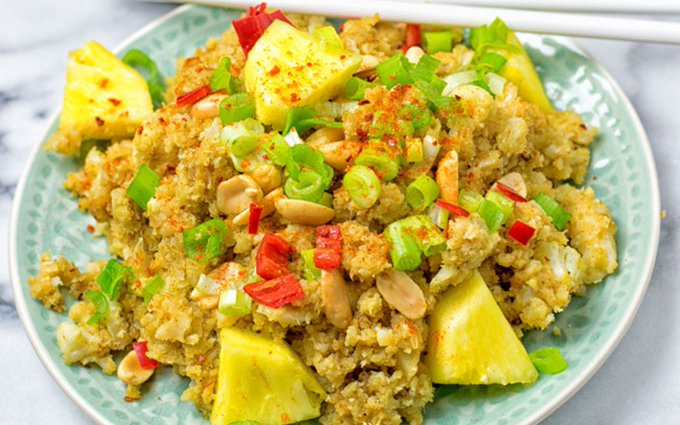 Thai Green Curry Cauliflower Rice [Vegan]