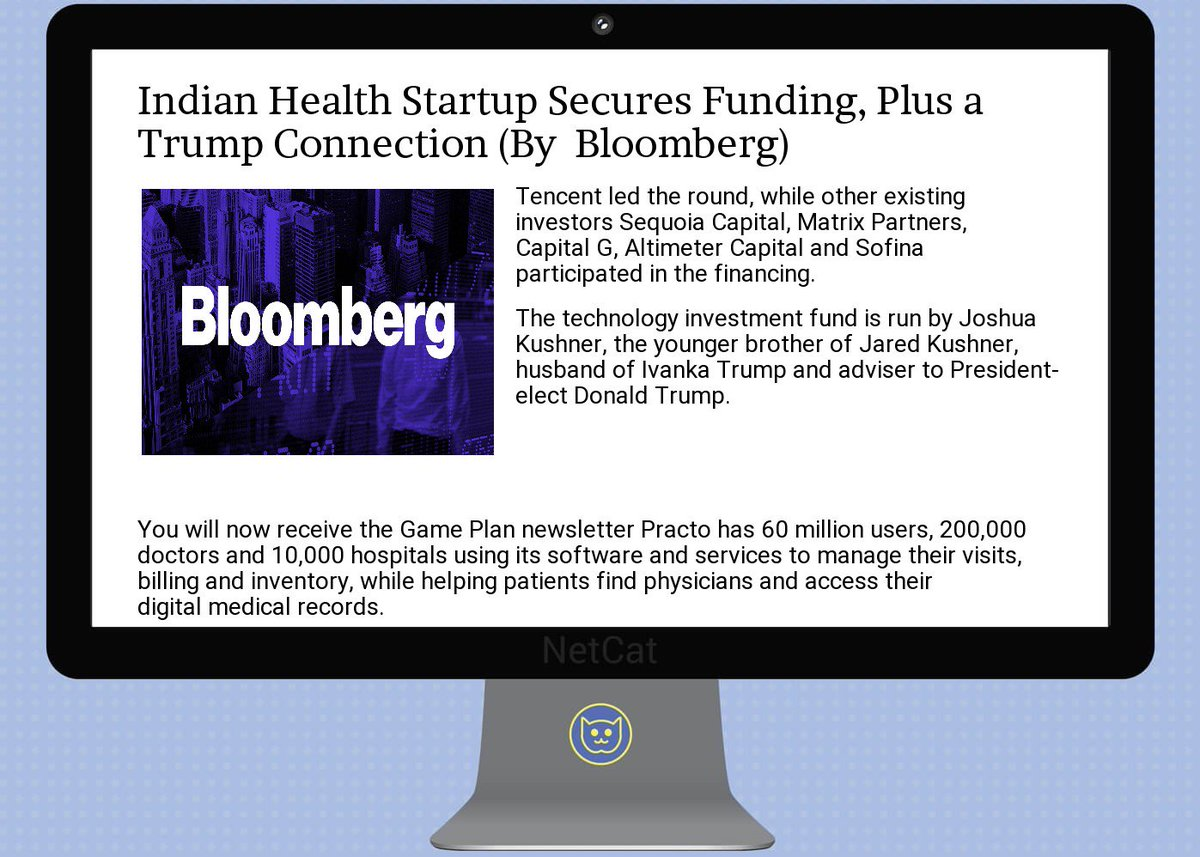 #startup #summary:  #indian  #health  #startup secures  #funding, plus a  #trump connection<br>http://pic.twitter.com/1mlfULVxlM