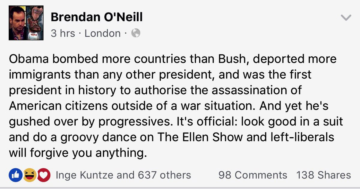 Brendan O\'Neill on how Obama got away with it