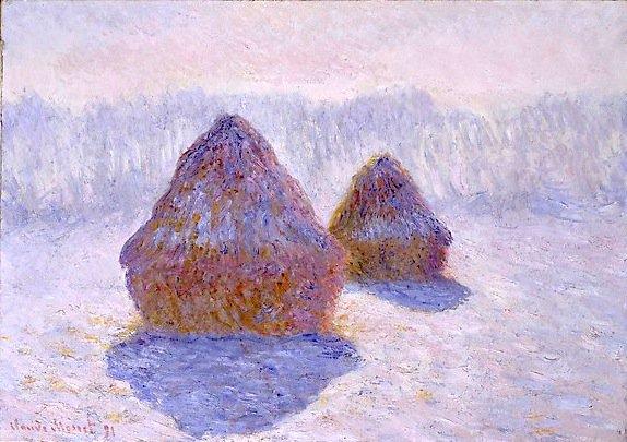Claude Monet, &quot;Meules effet de neige&quot;, 1891.  #Monet #ClaudeMonet #Impressionnisme #Art1890 #Artmoderne #Masterpiece #Maeght #YoyoMaeght<br>http://pic.twitter.com/YxhwpR929u