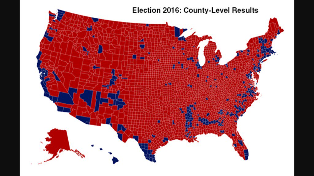 The left insists nation is 'divided.' This map shows reality. We r way more UNITED than media wants u to believe.