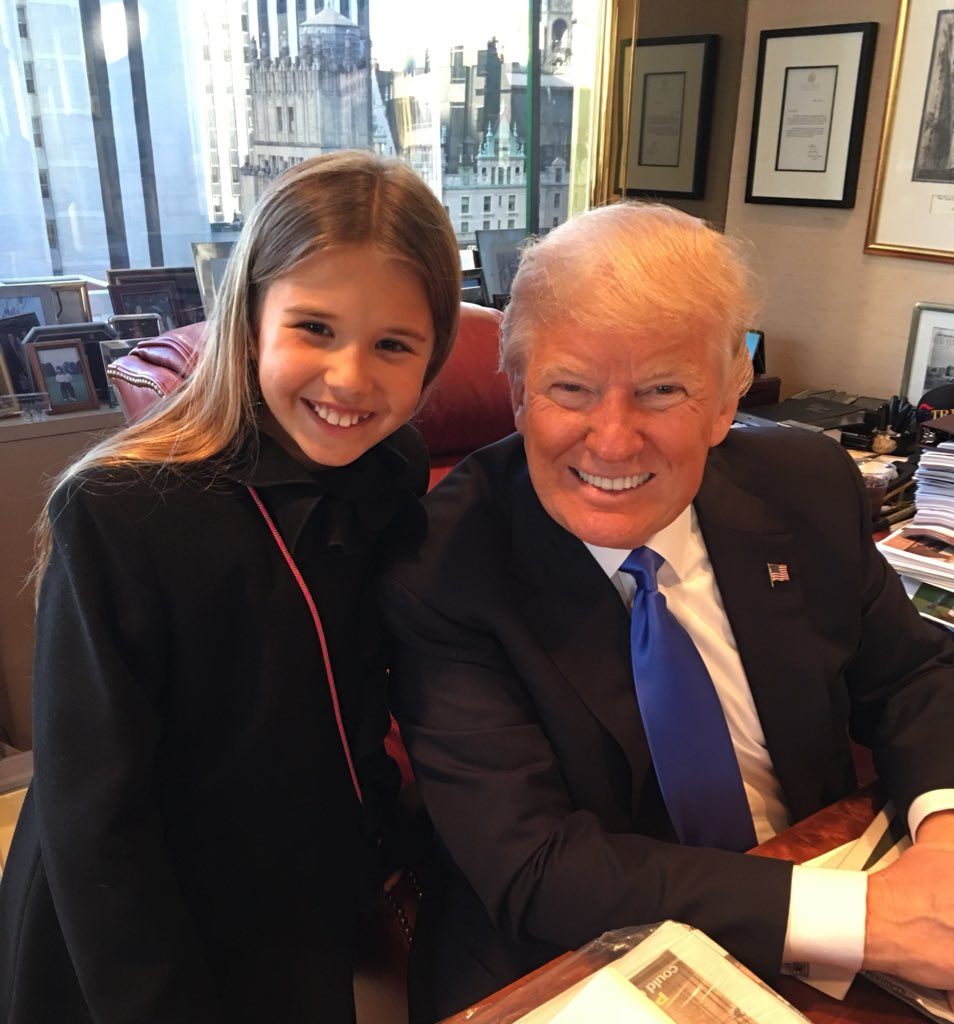 Kai visiting grandpa @realdonaldtrump one last time at the office he has used for as long as I can remember. #maga
