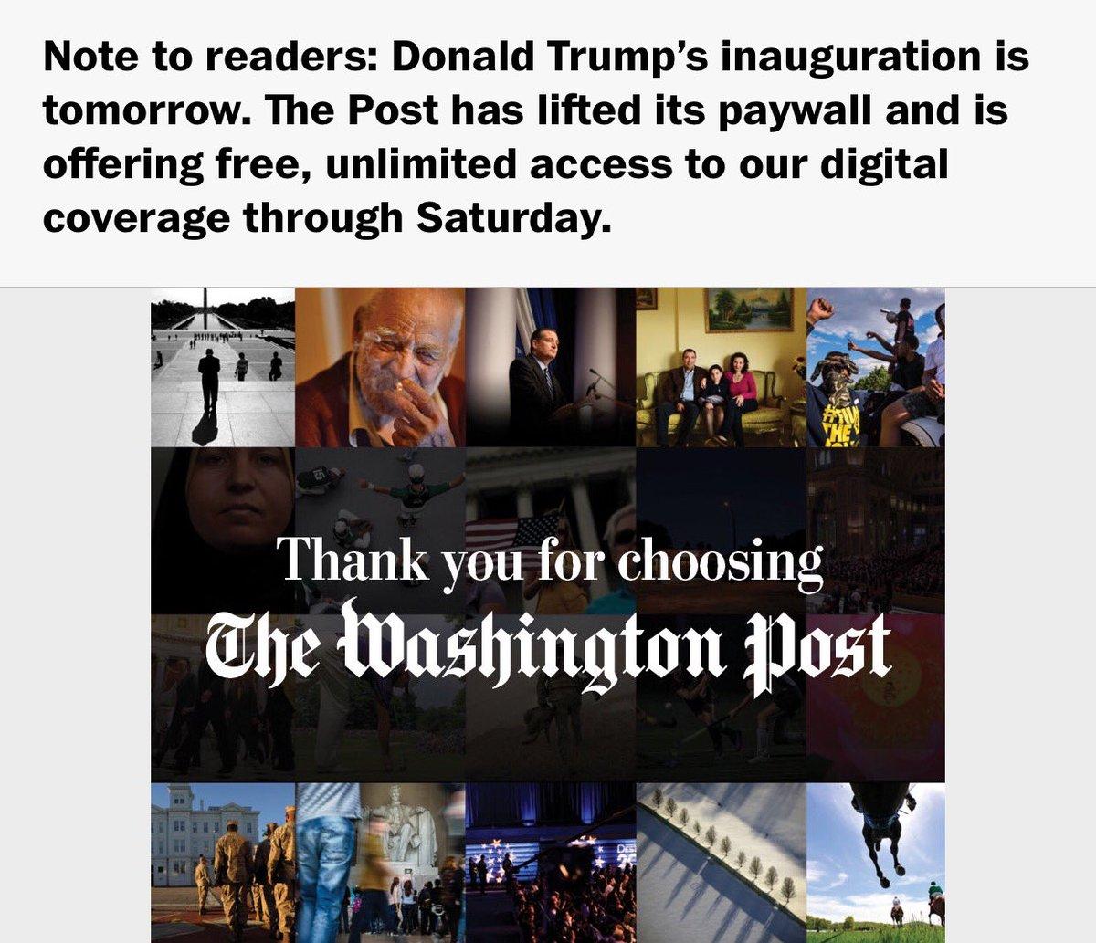 Enjoy unlimited free access to @washingtonpost through Saturday. https://t.co/04D5lOYVU6