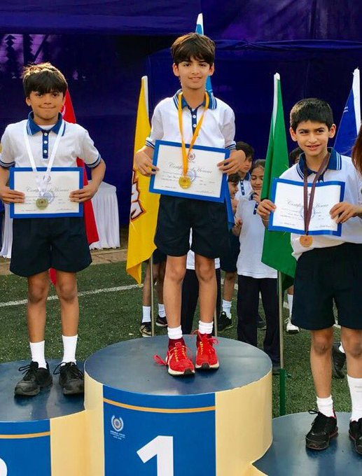 My grandson Hridhan wins Gold in long jump, Kaabil beta! https://t.co/oJu7F9d7Lg