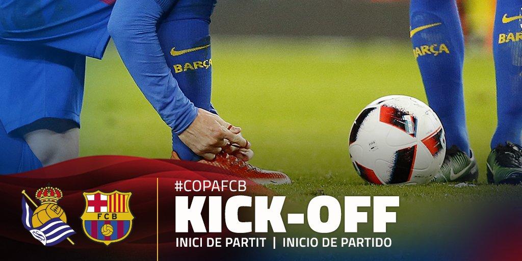 📍 ¡Comienza el partido entre la Real Sociedad y el FC Barcelona! ¡Rued...