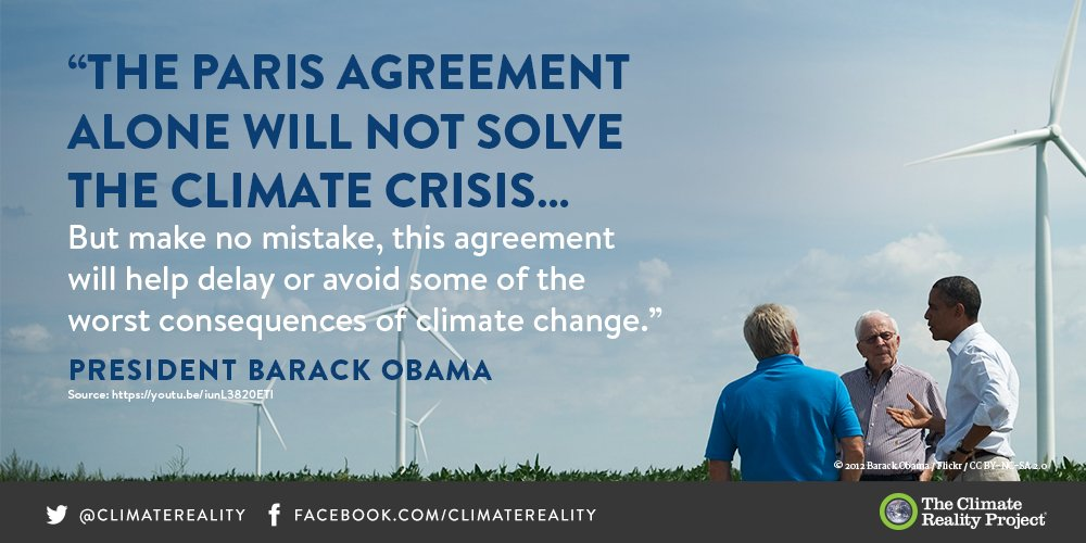 Under President Obama's leadership, the US signed the historic #ParisAgreement #ThanksObama<br>http://pic.twitter.com/WxuV8rwkww
