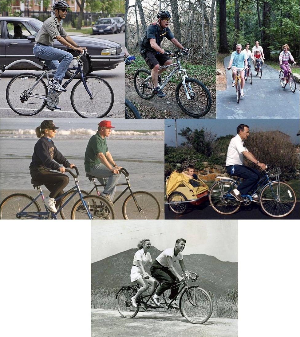 The most recent 6 #POTUS riding bikes. https://t.co/nopbo9lpBL
