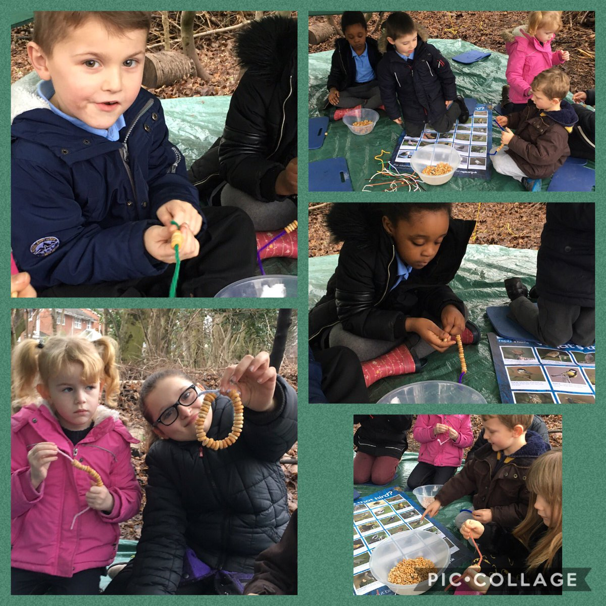 Taking part in @RSPB_Learning wild challenge. Making bird feeders to attract more wildlife to our site. #forestschool #rspb #birdfeeders<br>http://pic.twitter.com/RlLDef4DcY