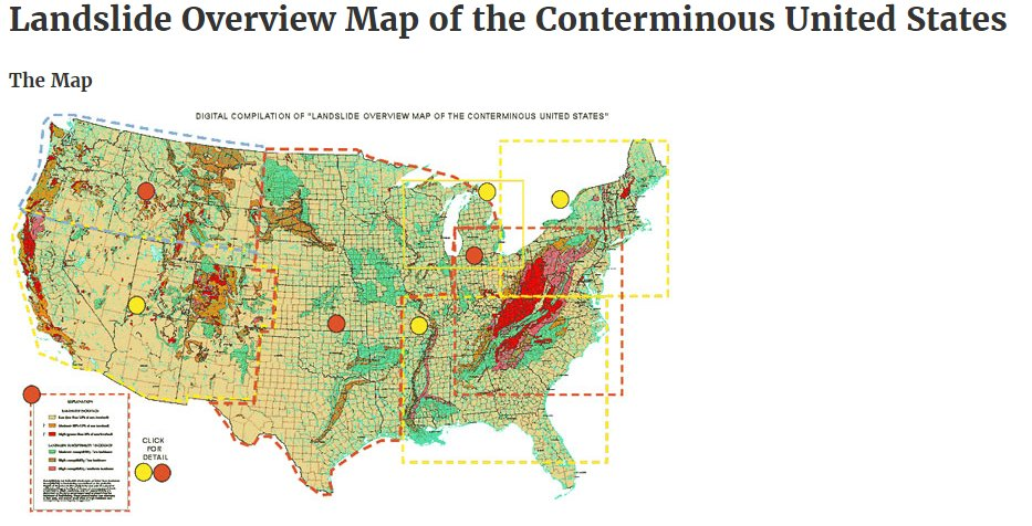 USGS on Twitter Landslide Overview Map of the Conterminous US