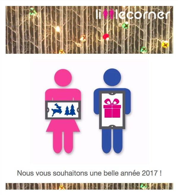 Toute l&#39;équipe de LittleCorner vous souhaite une bonne et heureuse année 2017  #HAPPYNEWYEAR #BonneAnnee #bestwishes !<br>http://pic.twitter.com/z95xBr5Gmb