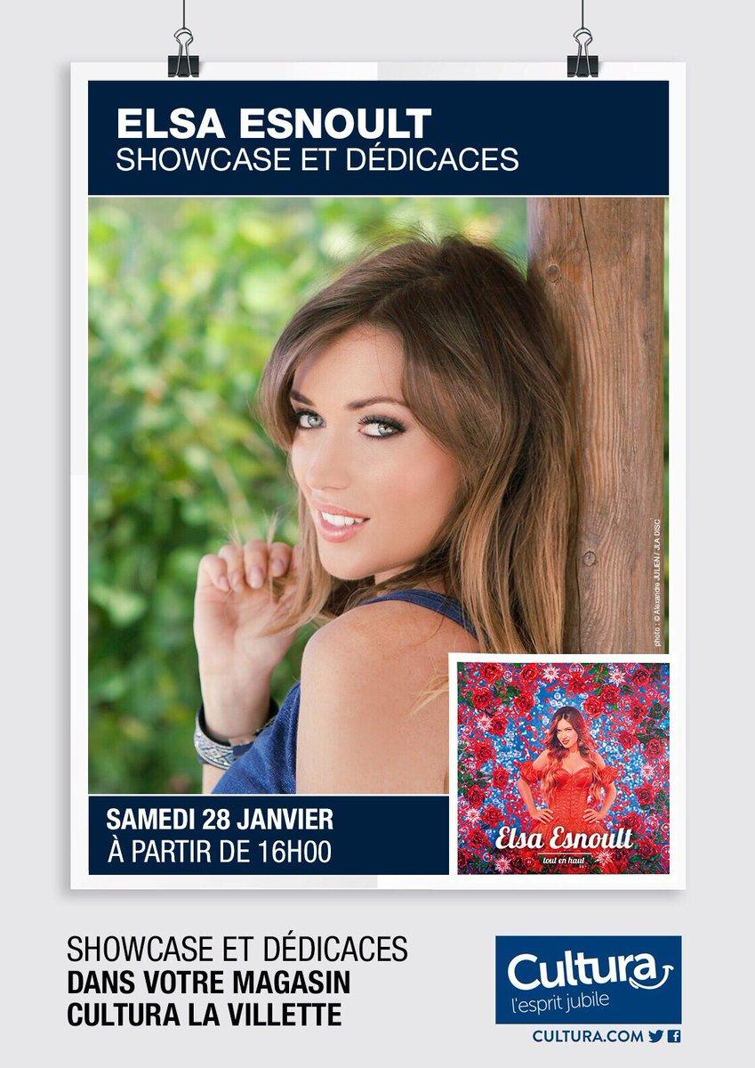 Showcase et séance de dédicaces : Le 28 janvier au Cultura de La Villette  #showcase #seancedededicaces #album #elsaesnoult<br>http://pic.twitter.com/Qwhx76z0Lk