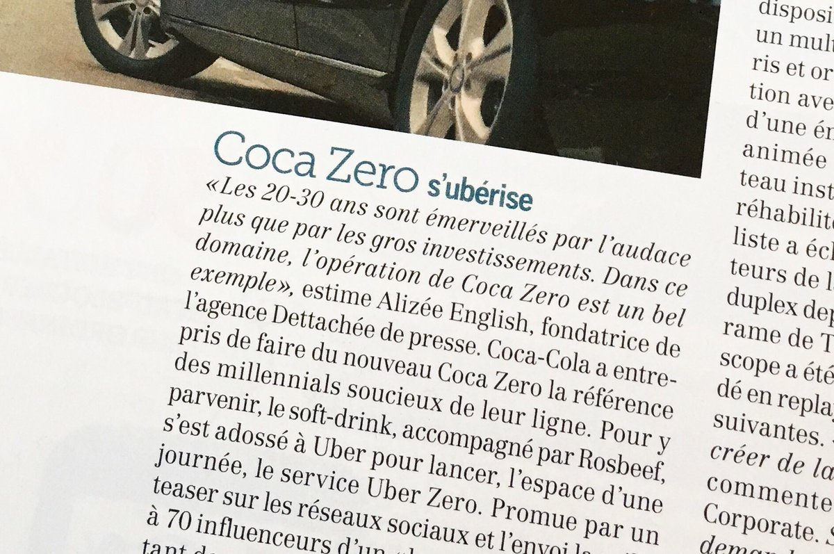 Petite citation dans @Strategies de cette semaine !  #Strategies #BrandLove #Advertising<br>http://pic.twitter.com/oVVHHj9Qq9