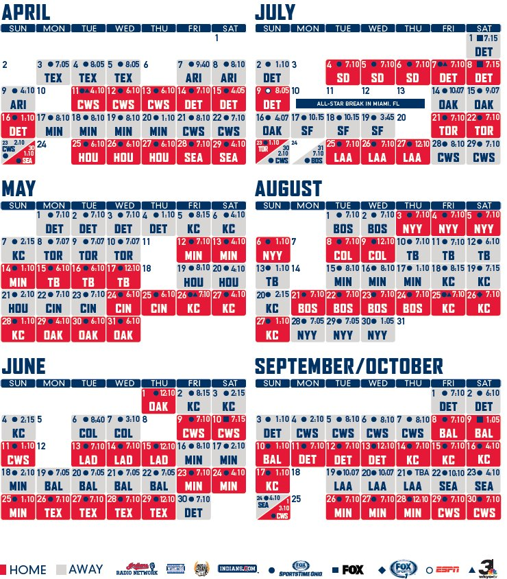 image regarding Indians Schedule Printable known as Cleveland Indians upon Twitter: \