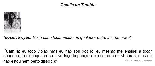 Camren On Tumblr En Twitter Resposta Da Camila No Tumblr