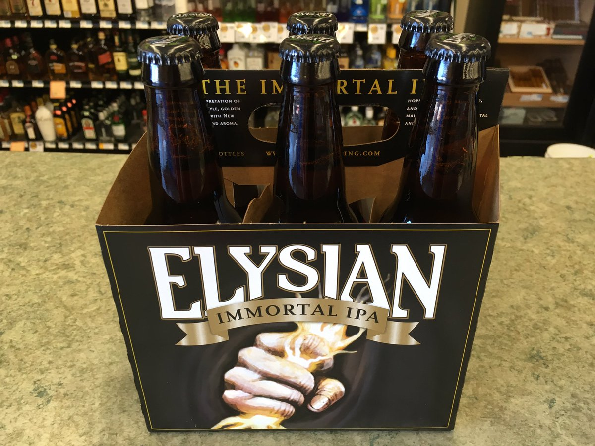 New from @ElysianBrewing! Immortal IPA 🍻 https://t.co/CRVr7CkUbH