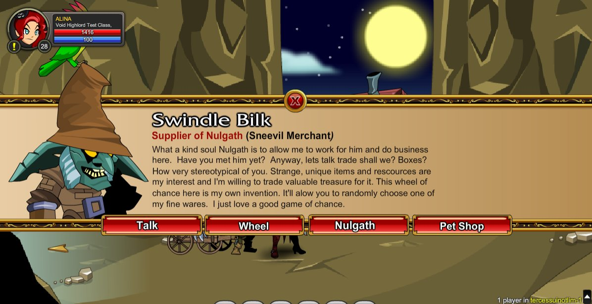 Swindle Bilk Pet Quest - AdventureQuest Worlds