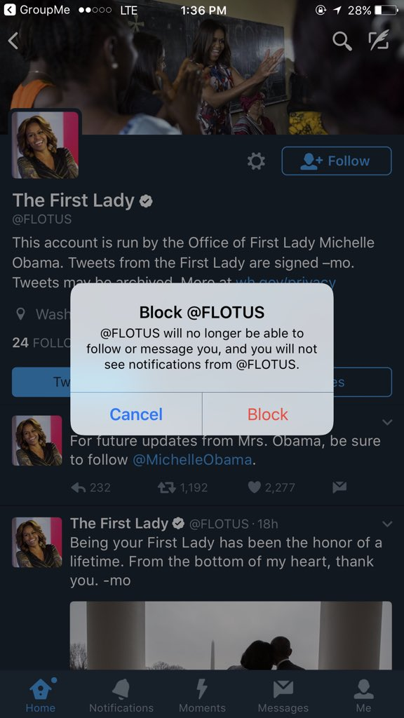 @FLOTUS @MichelleObama Once I see Melania's manufactured face on here... https://t.co/QhdNtMkQP9
