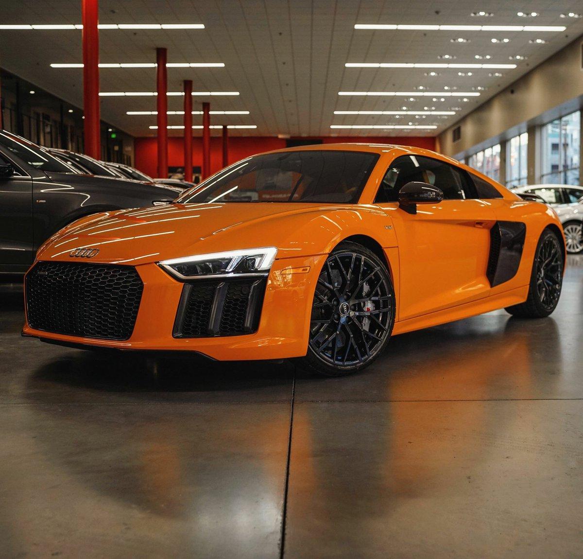 "Audi R8: Audi Daily On Twitter: ""Glut Orange Audi R8 V10 Plus By"