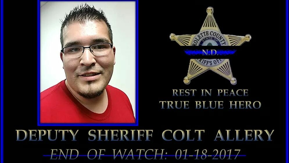 RIP Deputy Colt Allery of #RoletteCounty Sheriffs Office shot &amp; killed LOD yesterday. Plz rt &amp; show support #BackTheBlue #ThinBlueLine <br>http://pic.twitter.com/tGcnFhKePv