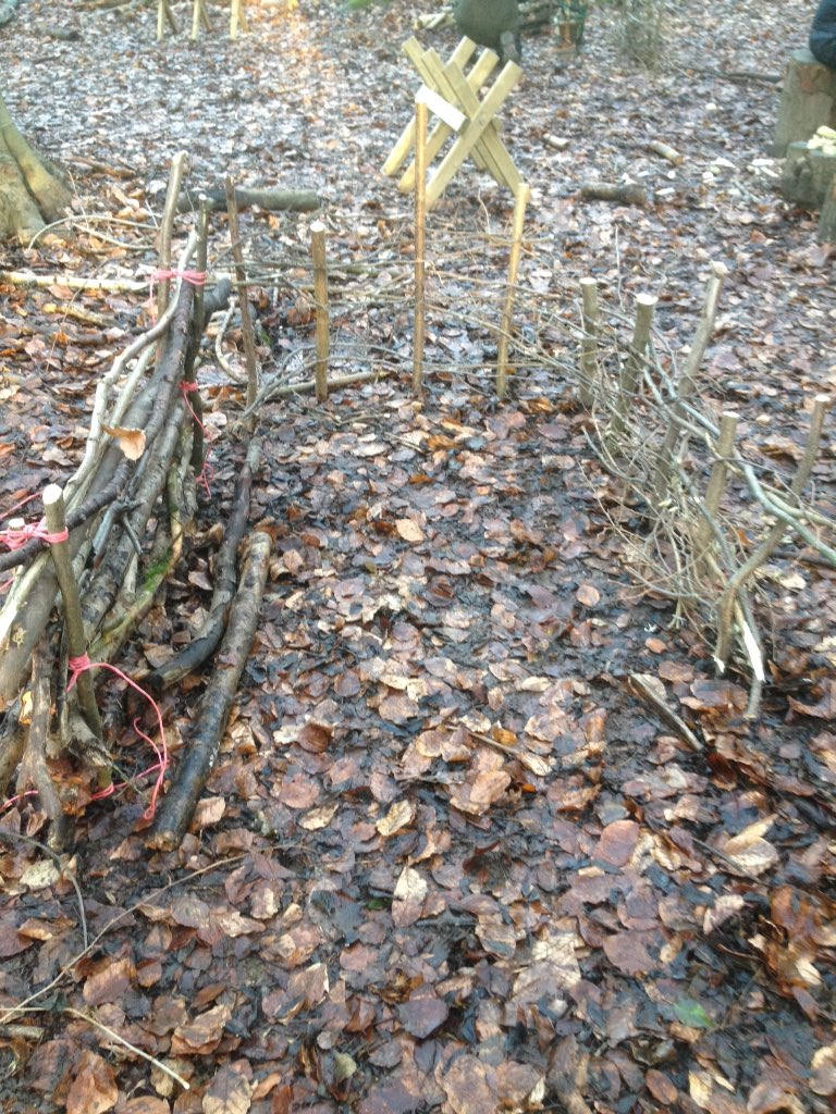 Hurdle making during level 3 Forest School Leaders Training @MyForestSchool at Shortenills #forestschool #outdoorlearning<br>http://pic.twitter.com/FT3yJeHcp6
