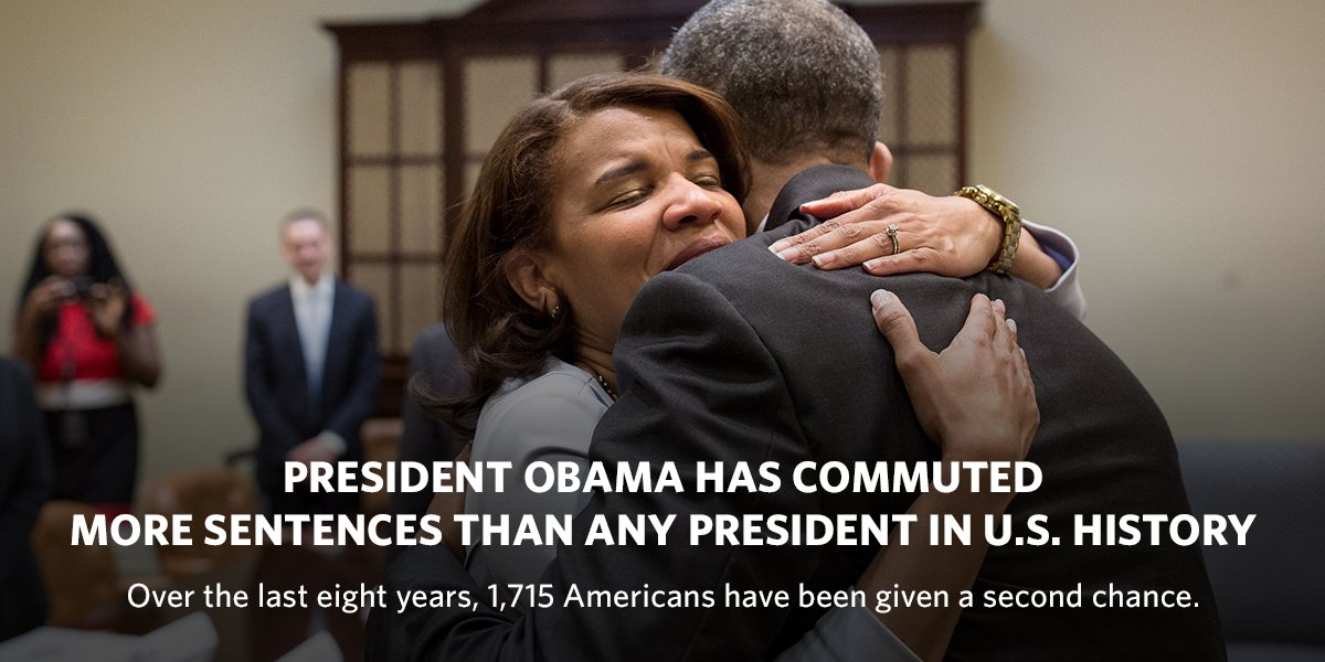 FACT: @POTUS has surpassed the number of commutations granted by the past 13 presidents combined. Learn more: go.wh.gov/6ULdiL
