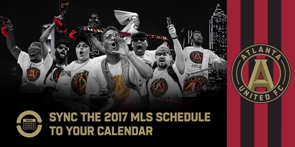 Never miss a match.  Add the 2017 #ATLUTD schedule to your calendar....