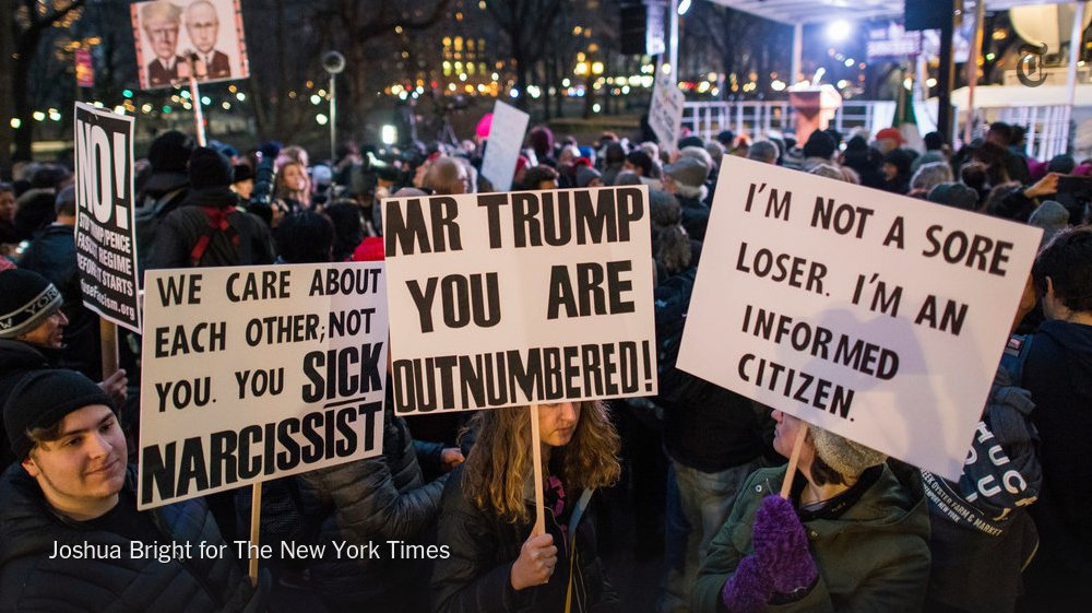 Robert DeNiro and Mark Ruffalo join thousands of protesters on the eve of inauguration. https://t.co/VHLvwnIlJw https://t.co/Wqz1RRDwhR